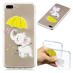 Umbrella Elephant Super Clear Soft TPU Back Cover for iPhone 8 Plus / 7 Plus 7P(5.5 inch)