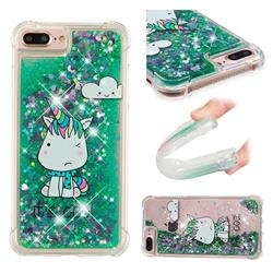 Tiny Unicorn Dynamic Liquid Glitter Sand Quicksand Star TPU Case for iPhone 8 Plus / 7 Plus 7P(5.5 inch)