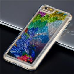 Phoenix Glassy Glitter Quicksand Dynamic Liquid Soft Phone Case for iPhone 8 Plus / 7 Plus 7P(5.5 inch)