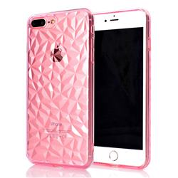 Diamond Pattern Shining Soft TPU Phone Back Cover for iPhone 8 Plus / 7 Plus 7P(5.5 inch) - Pink