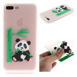 Panda Eating Bamboo Soft 3D Silicone Case for iPhone 8 Plus / 7 Plus 7P(5.5 inch) - Translucent