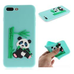 Panda Eating Bamboo Soft 3D Silicone Case for iPhone 8 Plus / 7 Plus 7P(5.5 inch) - Green