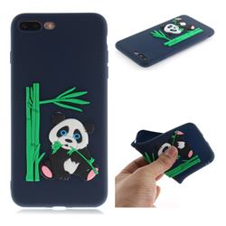 Panda Eating Bamboo Soft 3D Silicone Case for iPhone 8 Plus / 7 Plus 7P(5.5 inch) - Dark Blue