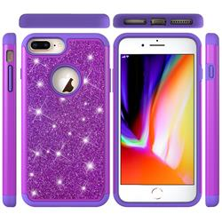 Glitter Rhinestone Bling Shock Absorbing Hybrid Defender Rugged Phone Case Cover for iPhone 8 Plus / 7 Plus 7P(5.5 inch) - Purple