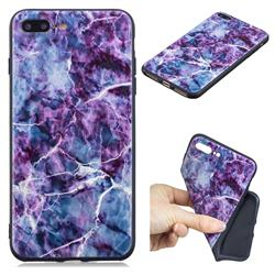 Marble 3D Embossed Relief Black TPU Cell Phone Back Cover for iPhone 8 Plus / 7 Plus 7P(5.5 inch)