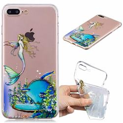 Mermaid Clear Varnish Soft Phone Back Cover for iPhone 8 Plus / 7 Plus 7P(5.5 inch)