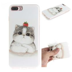 Cute Tomato Cat IMD Soft TPU Cell Phone Back Cover for iPhone 8 Plus / 7 Plus 7P(5.5 inch)