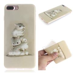Three Squirrels IMD Soft TPU Cell Phone Back Cover for iPhone 8 Plus / 7 Plus 7P(5.5 inch)