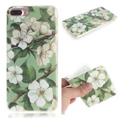 Watercolor Flower IMD Soft TPU Cell Phone Back Cover for iPhone 8 Plus / 7 Plus 7P(5.5 inch)