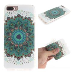 Peacock Mandala IMD Soft TPU Cell Phone Back Cover for iPhone 8 Plus / 7 Plus 7P(5.5 inch)