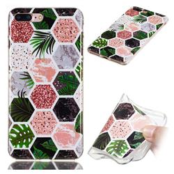 Rainforest Soft TPU Marble Pattern Phone Case for iPhone 8 Plus / 7 Plus 7P(5.5 inch)