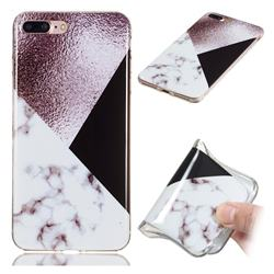 Black white Grey Soft TPU Marble Pattern Phone Case for iPhone 8 Plus / 7 Plus 7P(5.5 inch)