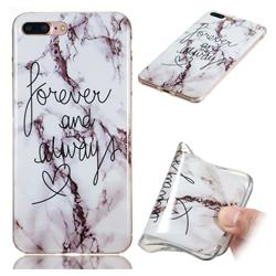 Forever Soft TPU Marble Pattern Phone Case for iPhone 8 Plus / 7 Plus 7P(5.5 inch)