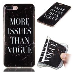 Stylish Black Soft TPU Marble Pattern Phone Case for iPhone 8 Plus / 7 Plus 7P(5.5 inch)