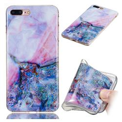 Purple Amber Soft TPU Marble Pattern Phone Case for iPhone 8 Plus / 7 Plus 7P(5.5 inch)