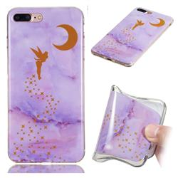 Elf Purple Soft TPU Marble Pattern Phone Case for iPhone 8 Plus / 7 Plus 7P(5.5 inch)