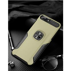 Knight Armor Anti Drop PC + Silicone Invisible Ring Holder Phone Cover for iPhone 8 Plus / 7 Plus 7P(5.5 inch) - Champagne