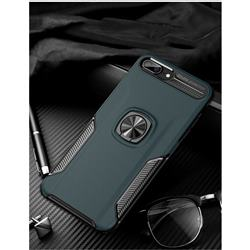 Knight Armor Anti Drop PC + Silicone Invisible Ring Holder Phone Cover for iPhone 8 Plus / 7 Plus 7P(5.5 inch) - Navy