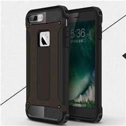 King Kong Armor Premium Shockproof Dual Layer Rugged Hard Cover for iPhone 8 Plus / 7 Plus 7P(5.5 inch) - Black Gold