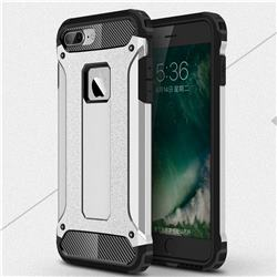 King Kong Armor Premium Shockproof Dual Layer Rugged Hard Cover for iPhone 8 Plus / 7 Plus 7P(5.5 inch) - Technology Silver