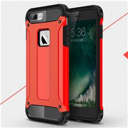 King Kong Armor Premium Shockproof Dual Layer Rugged Hard Cover for iPhone 8 Plus / 7 Plus 7P(5.5 inch) - Big Red