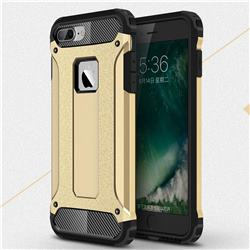 King Kong Armor Premium Shockproof Dual Layer Rugged Hard Cover for iPhone 8 Plus / 7 Plus 7P(5.5 inch) - Champagne Gold