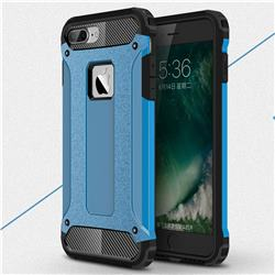 King Kong Armor Premium Shockproof Dual Layer Rugged Hard Cover for iPhone 8 Plus / 7 Plus 7P(5.5 inch) - Sky Blue