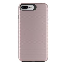 Triangle Texture Shockproof Hybrid Rugged Armor Defender Phone Case for iPhone 8 Plus / 7 Plus 7P(5.5 inch) - Rose Gold