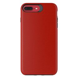 Triangle Texture Shockproof Hybrid Rugged Armor Defender Phone Case for iPhone 8 Plus / 7 Plus 7P(5.5 inch) - Red