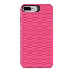 Triangle Texture Shockproof Hybrid Rugged Armor Defender Phone Case for iPhone 8 Plus / 7 Plus 7P(5.5 inch) - Rose