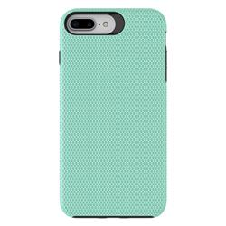 Triangle Texture Shockproof Hybrid Rugged Armor Defender Phone Case for iPhone 8 Plus / 7 Plus 7P(5.5 inch) - Mint Green