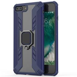 Predator Armor Metal Ring Grip Shockproof Dual Layer Rugged Hard Cover for iPhone 8 Plus / 7 Plus 7P(5.5 inch) - Blue