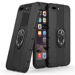 Alita Battle Angel Armor Metal Ring Grip Shockproof Dual Layer Rugged Hard Cover for iPhone 8 Plus / 7 Plus 7P(5.5 inch) - Black