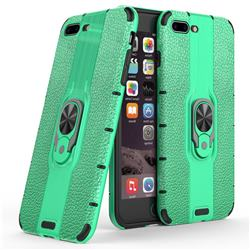 Alita Battle Angel Armor Metal Ring Grip Shockproof Dual Layer Rugged Hard Cover for iPhone 8 Plus / 7 Plus 7P(5.5 inch) - Green