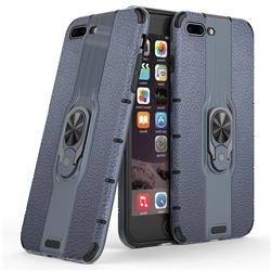 Alita Battle Angel Armor Metal Ring Grip Shockproof Dual Layer Rugged Hard Cover for iPhone 8 Plus / 7 Plus 7P(5.5 inch) - Blue