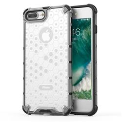 Honeycomb TPU + PC Hybrid Armor Shockproof Case Cover for iPhone 8 Plus / 7 Plus 7P(5.5 inch) - Transparent