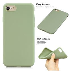 Soft Matte Silicone Phone Cover for iPhone 8 Plus / 7 Plus 7P(5.5 inch) - Bean Green