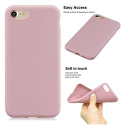 Soft Matte Silicone Phone Cover for iPhone 8 Plus / 7 Plus 7P(5.5 inch) - Lotus Color