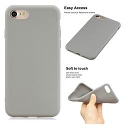 Soft Matte Silicone Phone Cover for iPhone 8 Plus / 7 Plus 7P(5.5 inch) - Gray