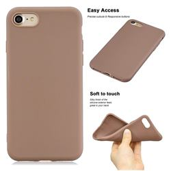 Soft Matte Silicone Phone Cover for iPhone 8 Plus / 7 Plus 7P(5.5 inch) - Khaki