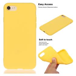 Soft Matte Silicone Phone Cover for iPhone 8 Plus / 7 Plus 7P(5.5 inch) - Yellow