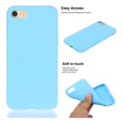 Soft Matte Silicone Phone Cover for iPhone 8 Plus / 7 Plus 7P(5.5 inch) - Sky Blue