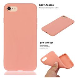 Soft Matte Silicone Phone Cover for iPhone 8 Plus / 7 Plus 7P(5.5 inch) - Coral Orange
