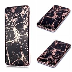Black Galvanized Rose Gold Marble Phone Back Cover for iPhone 8 Plus / 7 Plus 7P(5.5 inch)