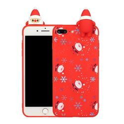 Snowflakes Gloves Christmas Xmax Soft 3D Doll Silicone Case for iPhone 8 Plus / 7 Plus 7P(5.5 inch)