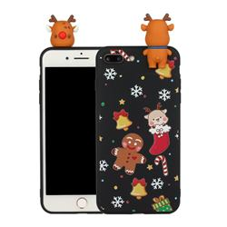 Gift Snow Christmas Xmax Soft 3D Doll Silicone Case for iPhone 8 Plus / 7 Plus 7P(5.5 inch)