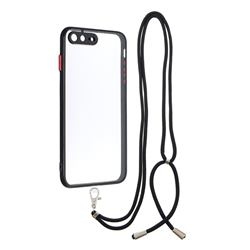 Necklace Cross-body Lanyard Strap Cord Phone Case Cover for iPhone 8 Plus / 7 Plus 7P(5.5 inch) - Black