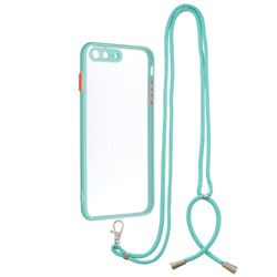 Necklace Cross-body Lanyard Strap Cord Phone Case Cover for iPhone 8 Plus / 7 Plus 7P(5.5 inch) - Blue
