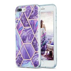 Purple Gagic Marble Pattern Galvanized Electroplating Protective Case Cover for iPhone 8 Plus / 7 Plus 7P(5.5 inch)