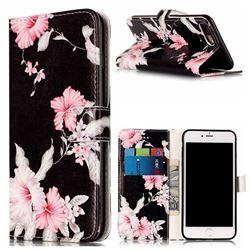 Azalea Flower PU Leather Wallet Case for iPhone 8 Plus / 7 Plus 8P 7P(5.5 inch)